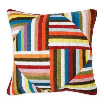 "Jonathan Adler Multi Windmill Bargello Decorative Pillow, 20"" x 20"" | Bloomingdale's"