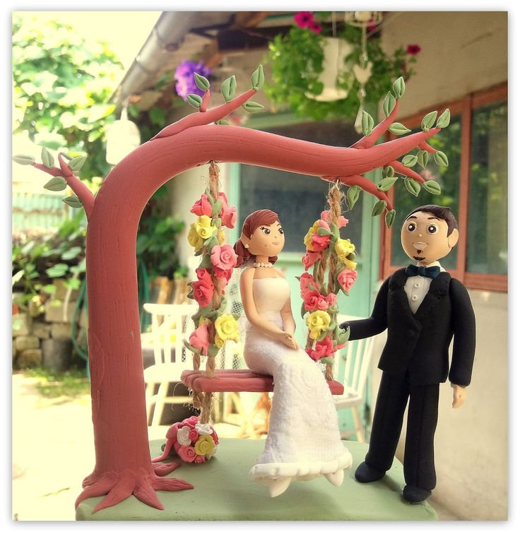 Sa modelam: Figurina pentru tort- leagan cu flori