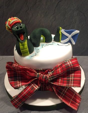 St Andrews Day - Loch Ness Monster cake