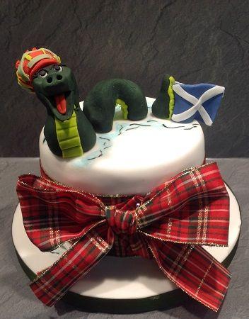 St Andrews Day - Loch Ness Monster cake