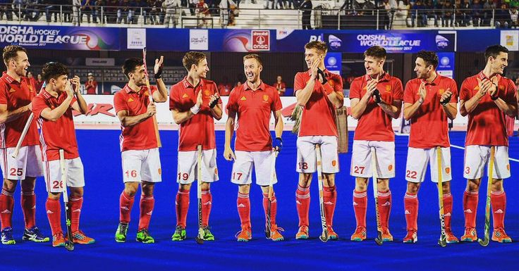 December 5 2017 -  England Hockey players congratulate Barry Middleton on making his 400th appearance as they come from behind to salvage a draw against Hockey Australia in HWL2017