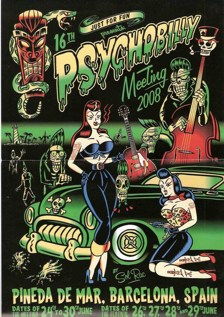psychobilly | 16 ème PSYCHOBILLY MEETING, PINEDA DE MAR, sur la côte en Catalogne ...