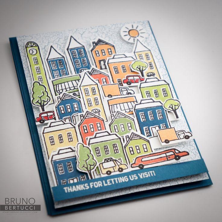 Bruno Bertucci | Stampin Up | stampinbruno | In The City | Handmade Card