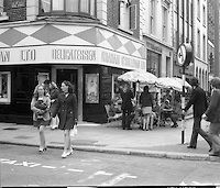 This was Graham O'Sullivan's  delicatessen on Dawson Street.  It was the first place in Dublin where workers could go and buy a takeaway sandwich at lunchtime - I loved the egg and tomato sandwich.