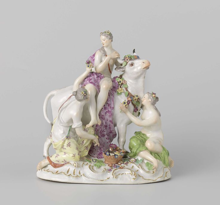 Europa op de stier, Meissener Porzellan Manufaktur, c. 1750 - c. 1760