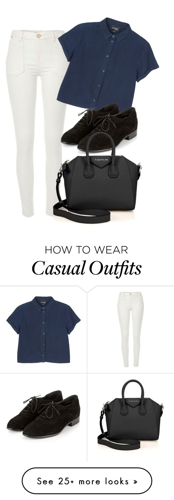 """""""casual"""" by adele-adik on Polyvore featuring River Island, Monki and Givenchy"""
