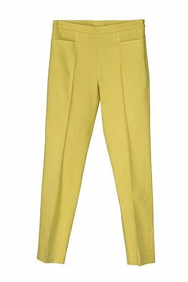 OPALE slim leg pant in stretch cotton piquet, garment died (decisive)