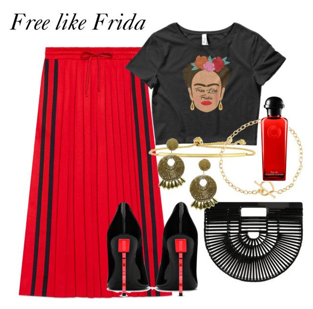 Free like Frida by lawastyle on Polyvore featuring Gucci, Yves Saint Laurent, Cult Gaia, Kenneth Jay Lane and Hermès