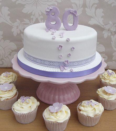 Lilac 80th Birthday Cake | Flickr - Photo Sharing!