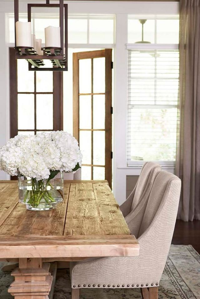 Decorating With White Hydrangeas   My Favorite Flower! Modern Farmhouse Dining  Room