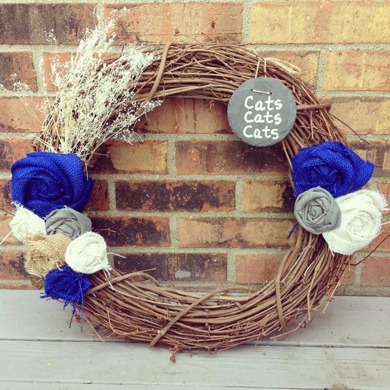 Kentucky Wildcats Wreath by VineandWineBoutique on Etsy, $40.00     try it     Pinterest ...