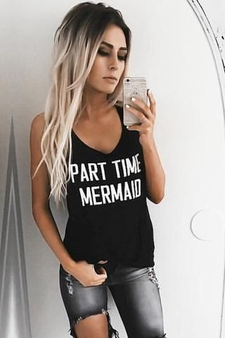 Part Time Mermaid Graphic Top