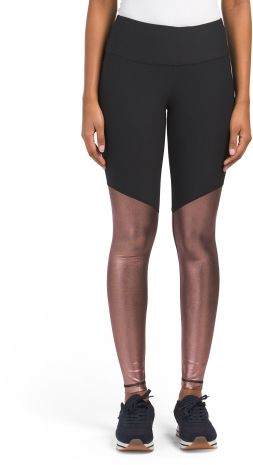 83349ff5308979 ROSEGOLD Metallic Bottom Leggings from TJ Maxx #B…Edit description ...