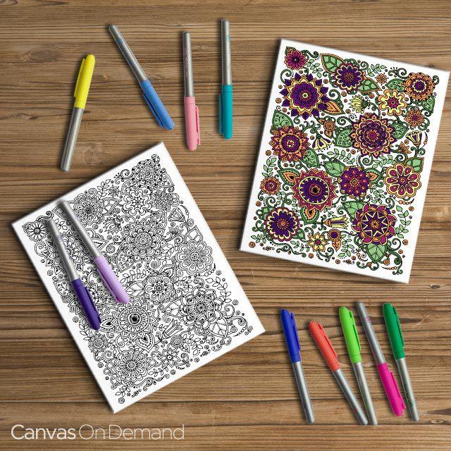 49 best Coloring Canvas Art & Décor images on Pinterest | Canvas ...