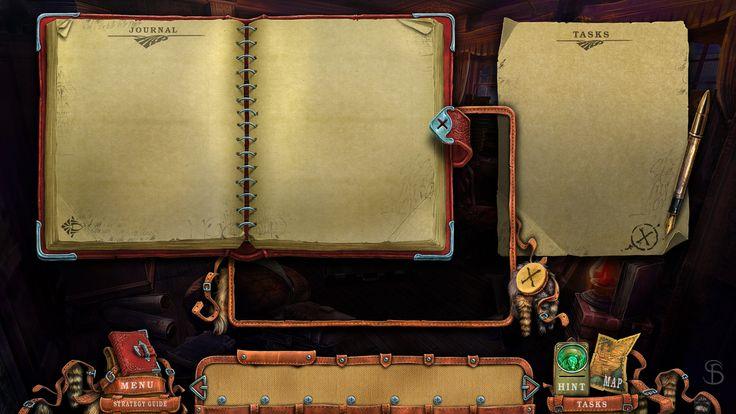 user interface. hidden objects game