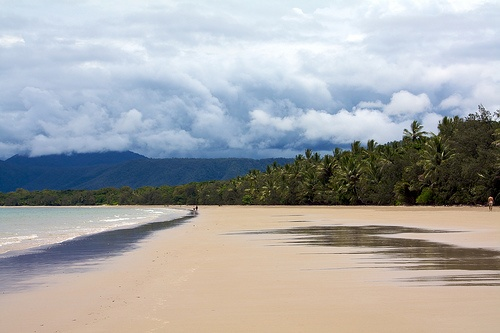 Port Douglas activities - things to see and do. The famous Four Mile Beach, stretching away into the distance.