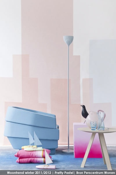 woontrend winter 2012 pretty pastel wonen interieurtrends interior gespot door. Black Bedroom Furniture Sets. Home Design Ideas