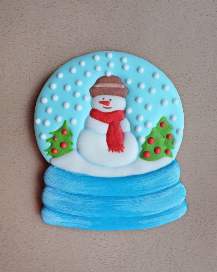 Новый год Рождество Пряник имбирный снежный шар