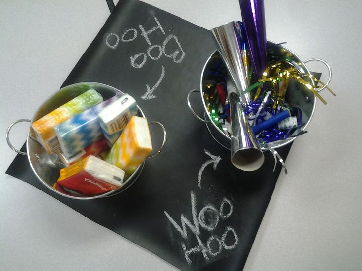 Cute idea for transition! :) The PTA had a Boo Hoo breakfast set up for the Kindergarten parents at my sons school. Cant wait to do this next year on the first day at our parent info meeting.