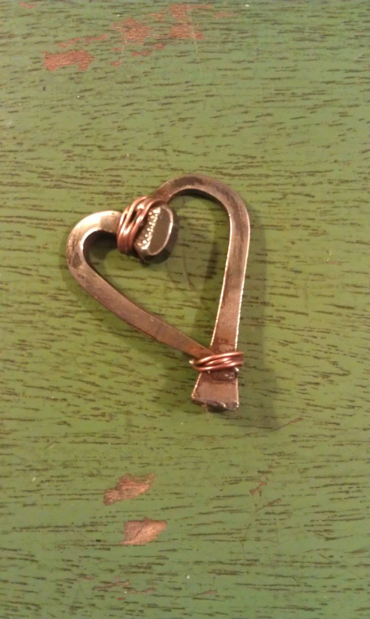 Horseshoe Nail Heart Pendant by TheEquestrianista on Etsy, $15.00