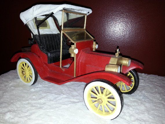 Vintage Handcrafted 1911 Ford Model T Model Car Handcrafted Juguetes Juguetes De Madera Ford