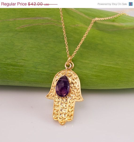 Mothers Day Sale  Purple Amethyst Necklace  February by delezhen
