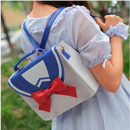 Sailor Moon Bag Sailor Hot Fashion Style Suit Anime Luna Moon Cartoon Bow Cute Design  Girls Lolita Handbag Messenger Bag