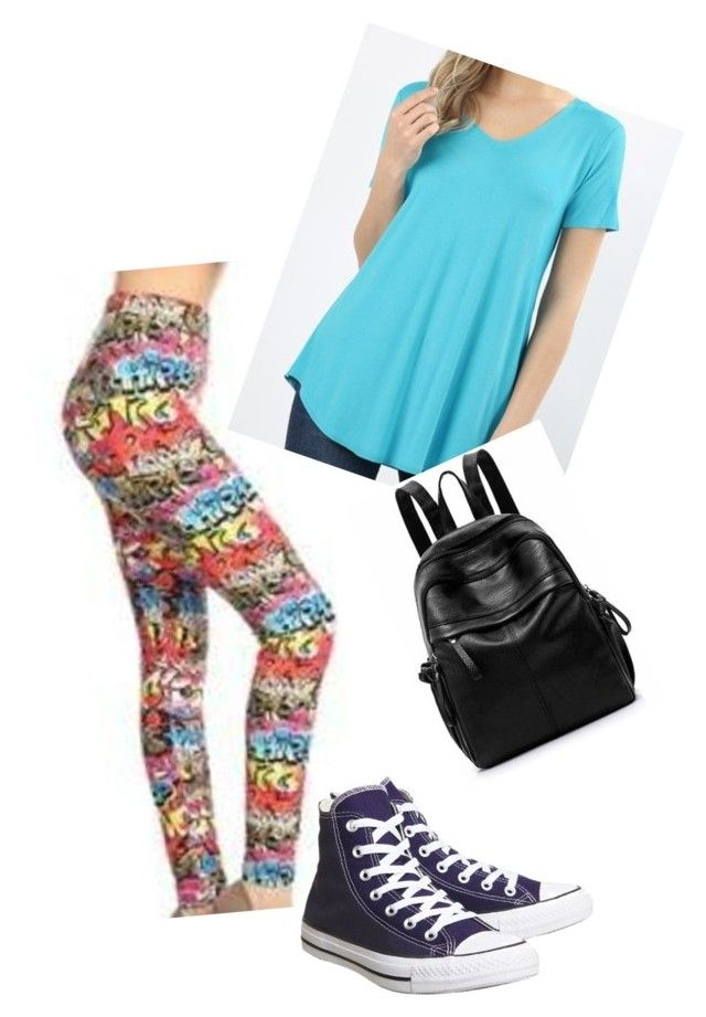 """""""writing on the wall"""" by theresa-place on Polyvore featuring Converse, Leggings and shesgotleggz"""
