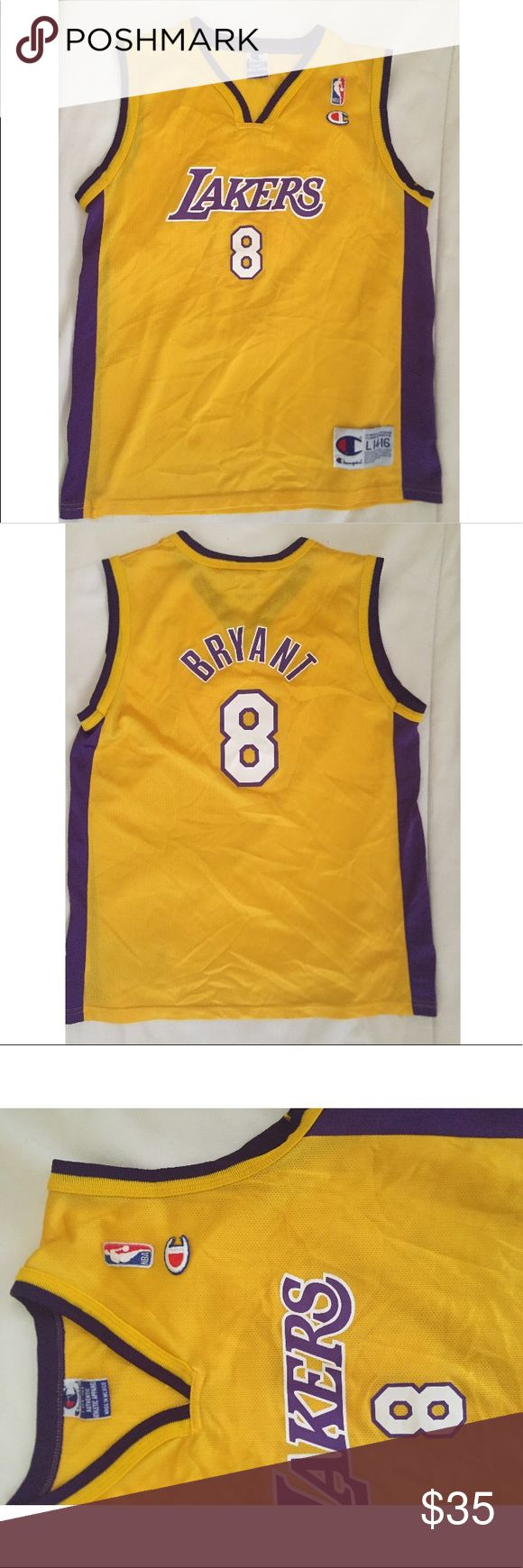 Champion Lakers Kobe Bryant Jersey Vintage. Youth Size 14-16 Could Fit Woman Or Men Small. Authentic. Still In Excellent Condition! Champion Other