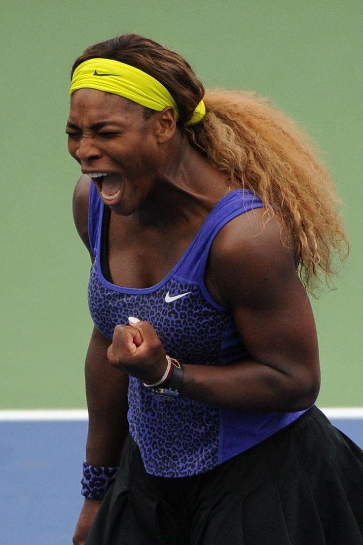 Tennis - Serena beats Wozniacki to reach Cincinnati final