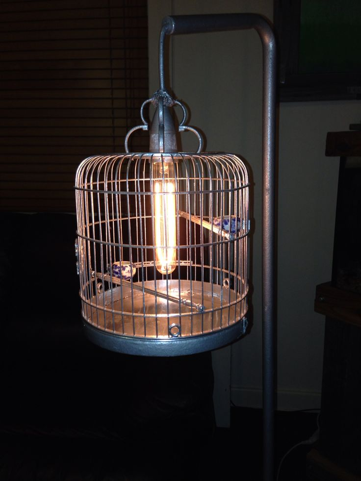 Birdcage lamp completed Troy