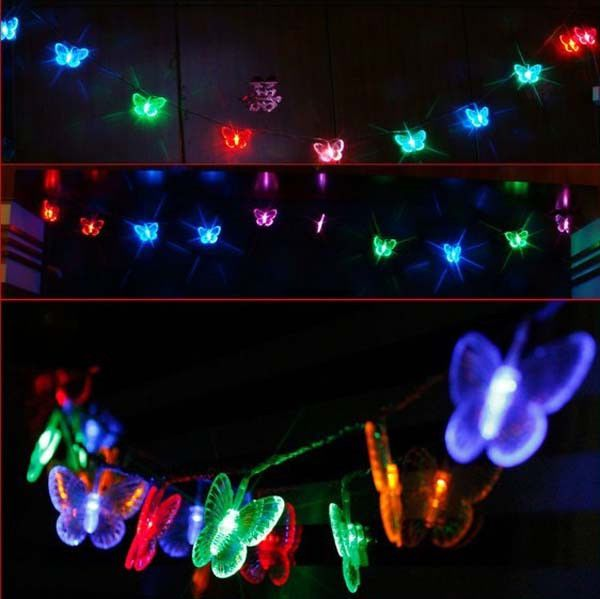 RGB Butterfly LED STRING LIGHTS FOR PARTY,PATIO,FAIRY,CHRISTMAS,WEDDING,BEDROOM