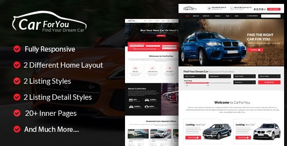 Carforyou Responsive Car Dealer Html5 Template Carforyou