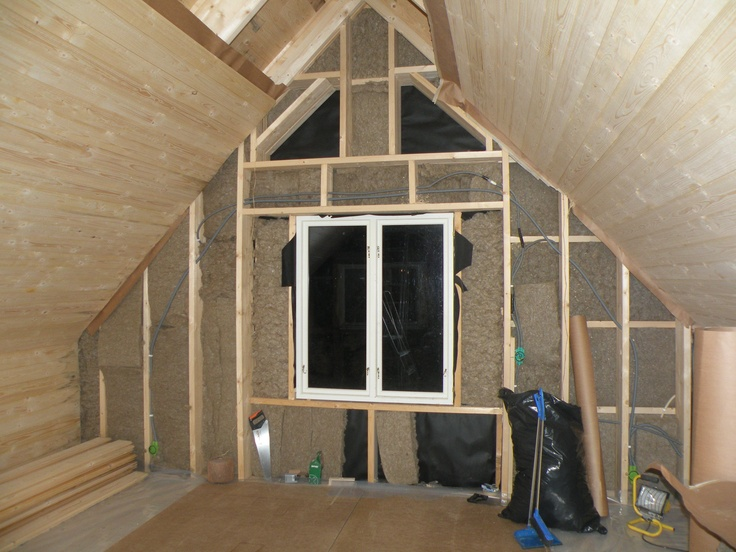 The new bedroom with hemp insulation
