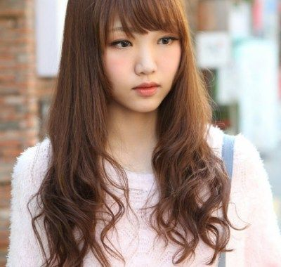 Cute Korean Curly Hairstyles