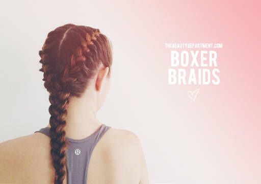 boxer braid hairstyle for working out