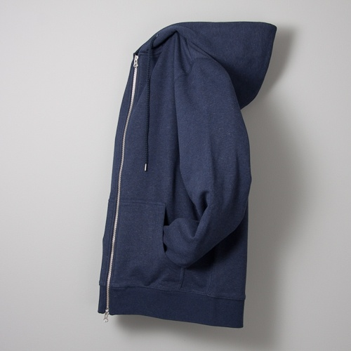 Sunspel Zip Front Hoodie made with 100% loopback cotton. $259
