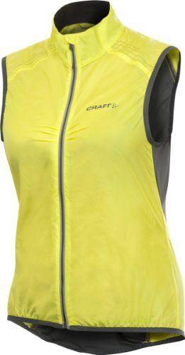 Craft Women's Performance Bike Light Vest (Yellow, Medium) - http://ridingjerseys.com/craft-womens-performance-bike-light-vest-yellow-medium/