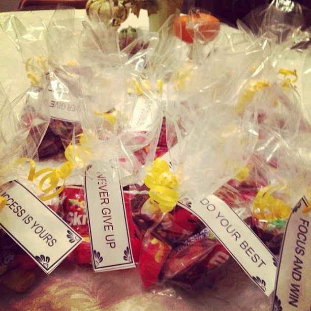 Motivational Goodie Bags!   Volleyball party ideas ...