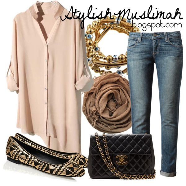 Chanel by stylishmuslimah, via Polyvore