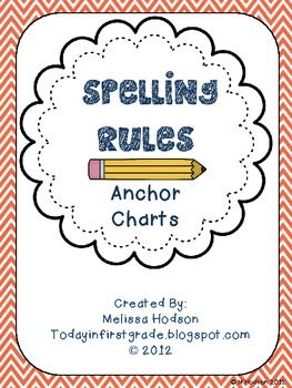 Spelling Rules Anchor Charts | Melissa Hodson | {1-6}