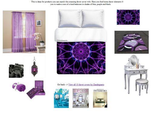 1000 ideas about blue purple bedroom on pinterest blue - Blue and purple bedroom curtains ...