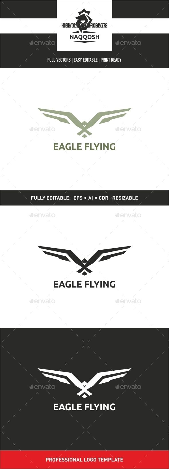 Eagle Flying - Animals Logo Templates