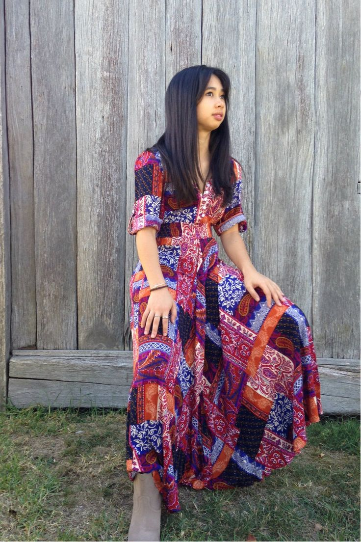 Boho Lightfast Maxi Dress - Sacs On Jenkins