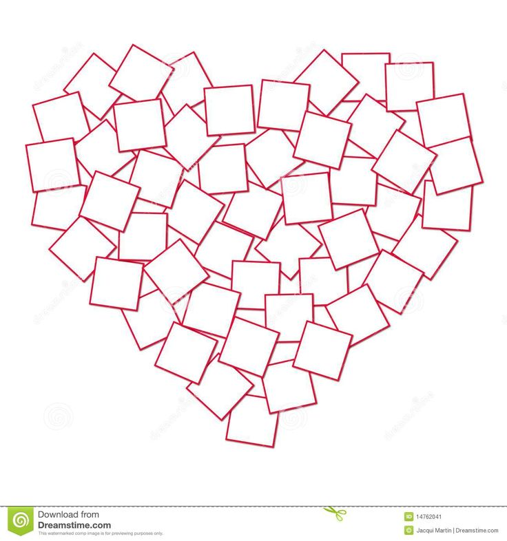 Heart Shaped Collage Template