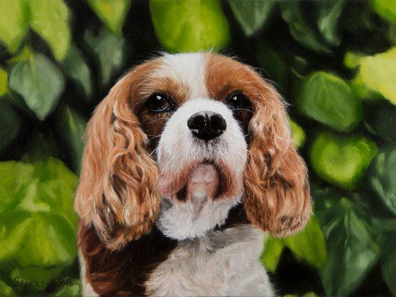 Springer Spaniel. Original brown and white puppy by ArtwaveStudio