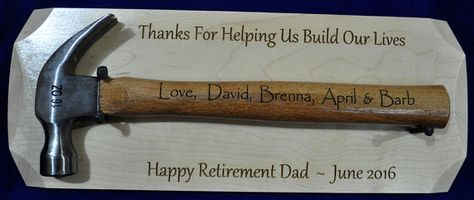 Retirement Gift For Dad Personalized By SpringbrookEngraving