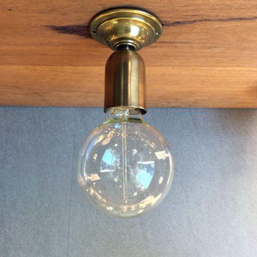 Brass Batten Lamp Holder - Assorted Finishes from LightworksOnline