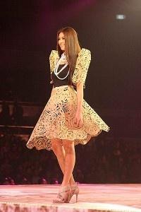 Skirt and bolero inspired by the Philippine terno.