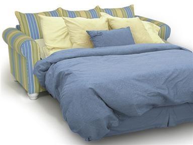 Striped Queen Sleeper Sofa ღ small spaces & studios ღ